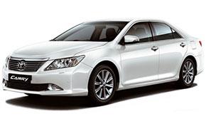 Аренда Toyota Camry белая с водителем