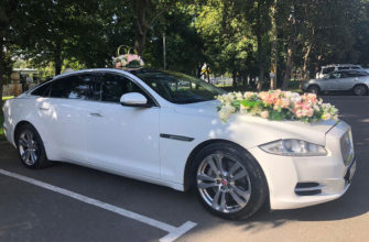 Jaguar XJl белый на свадьбу