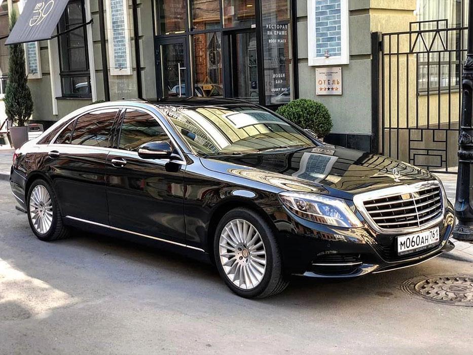 Mercedes s 222 черный