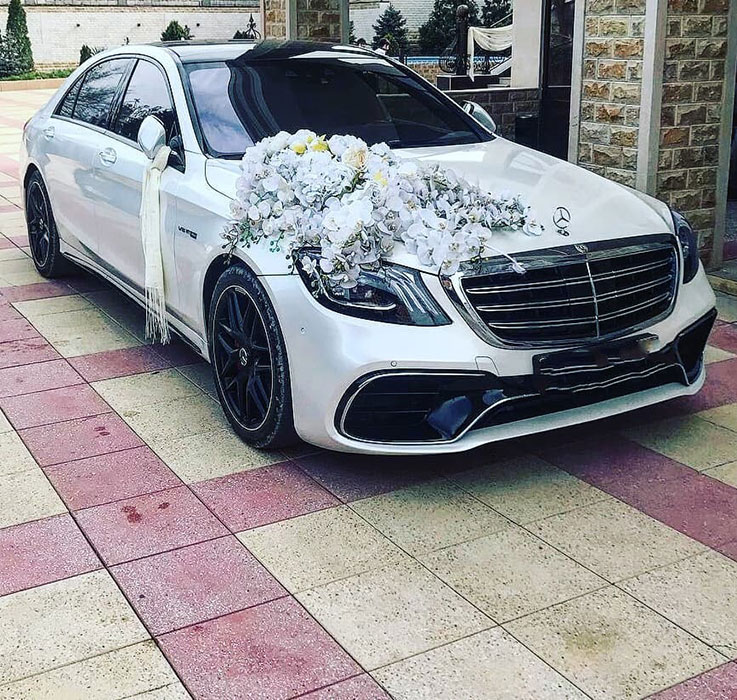 Mercedes S-222 белый на свадьбу